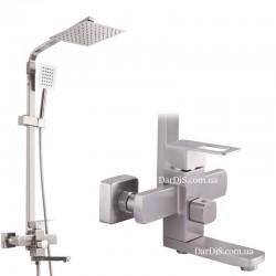 Смеситель для ванны с тропическим душем MIXXUS FIT-009-J
