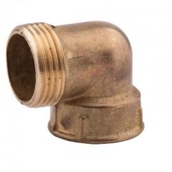 латунный угольник 25 нв 1н-1в резьба наружная-внутреняя