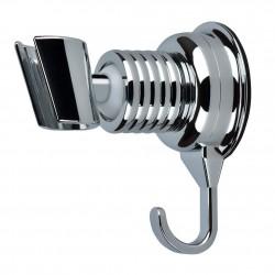Держатель ручной лейки душа на вакуумной присоске с крючком для мочалки Eurolux 55-A