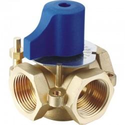 """Ручной латунный  трехходовой клапан  1 1/4""""  SD FORTE"""