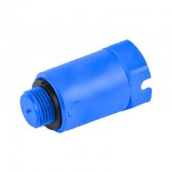 Пробка заглушка длинная сантехническая из PPR 1/2 синяя Thermo Alliance