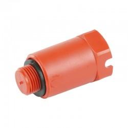 Пробка заглушка длинная сантехническая из PPR 1/2 красная Thermo Alliance