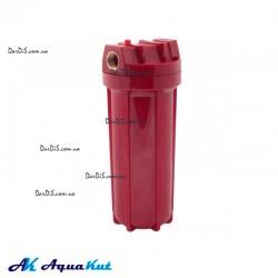 """Фильтр-колба AquaKut 2Р HOT 10"""" 1/2"""""""" в комплекте картридж, ключ, крепление"""