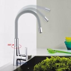 смеситель для кухни гибкий излив серый MIXXUS RAINBOW 026 GRAY