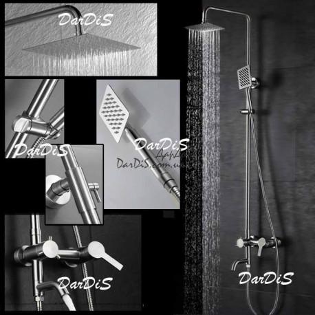 Душевая система со смесителем  с тропическим душем ZERIX LR7240