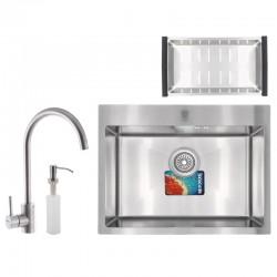 Мойка для кухни врезная MIXXUS  MX5843-200x1-SATIN