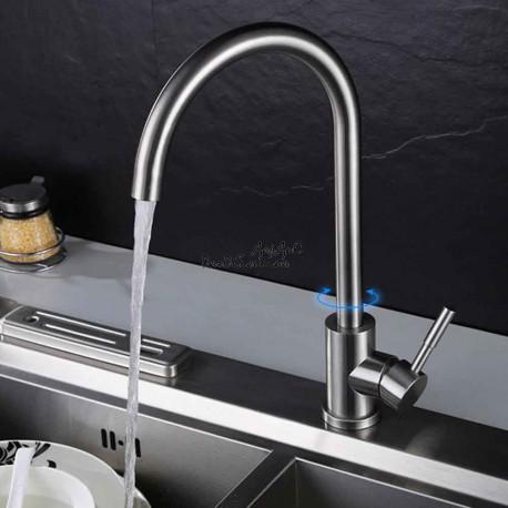 смеситель для кухни из нержавейки ZERIX ZS-8105