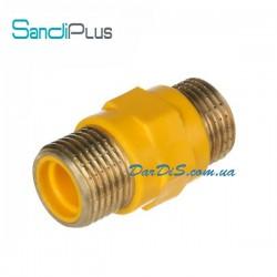 Ниппель диэлектрический 1/2 для газа SD Plus (Вставка диэлектрическая)