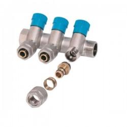 Коллектор распределительный 3/4х3 под фитинг букса SD230W3-Blue
