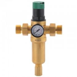 Фильтр промывной с редуктором давления и манометром KOER KR.1249 1''