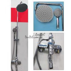 Душевая система с тропическим душем и смесителем Haiba Olivia 003 J