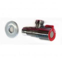 Кран для подключения смесителя ZERIX LR70507H (цвет: красный)