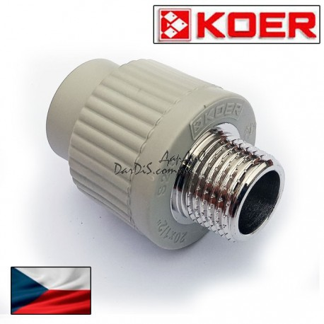 Муфта Pprc комбинированная Koer 25x1/2 дюйма с наружной резьбой