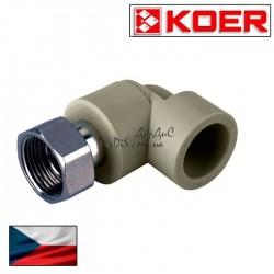 Угольник угол с накидной гайкой 25x3/4F PPR KOER
