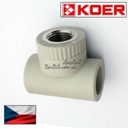 Koer PPR тройник комбинированный 20x1/2 с внутренней резьбой