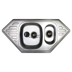 Кухонная мойка врезная HAIBA 100*50 Satin