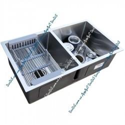 Врезная мойка для кухни Handmade SUS304 ZERIX ZUS8045-HM