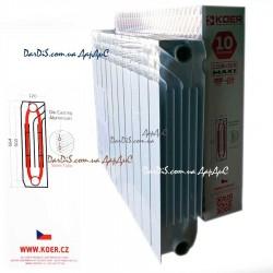 Биметаллический радиатор Koer 120 Bimetal-500 MAXI 10-секций