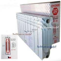 Биметаллический радиатор Koer 120 Bimetal-350 MAXI 10-секций