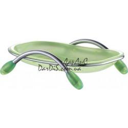 Мыльница пластик зелёный ZERIX LR333