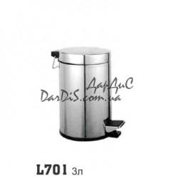 Мусорное ведро с педалью в туалет кухню 3л ZERIX LR701